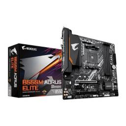 Placa-Mãe Gigabyte B550M Aorus Elite, Amd Am4, Micro ATX, DDR4