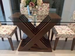 Mesa de jantar 6 cadeiras semi nova