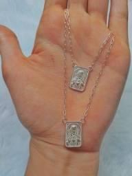 Título do anúncio: Escapulário na corrente Cartier, prata 925 - Frete grátis