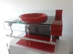 Pia banheiro de vidro com Cuba.!