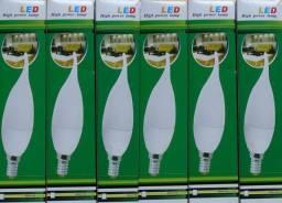 Kit 6 Lampadas Vela Led E14 3w Cristal Branco Quente