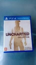 Vendo ou troco jogo de play 4 uncharted 1,2,3