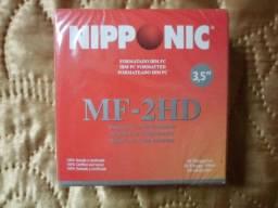Caixa com 10 Disquetes de 1,44mb Niponic Mf-2hd, Produto Novo, Embalagem Lacrada Raridade