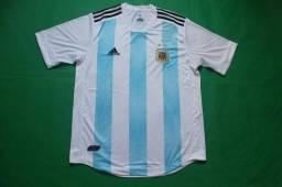 Camisa Oficial Nova Da Seleçao Da Argentina Azul 2018/2019