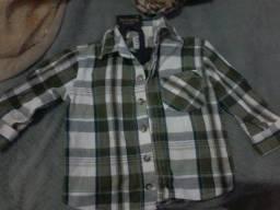 Camisa xadrez hering baby
