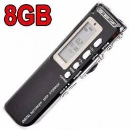 Gravador de Voz Digital Espião Gravação 900 Minutos Direto