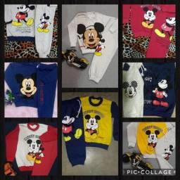 Conjunto moletom peluciado Mickey