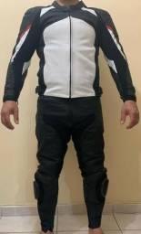 Macacão Motociclista Couro