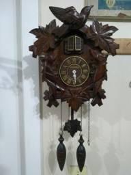 Antigo Relógio De Parede Cuco Madeira Herweg Para Restauro