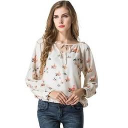 Camisa Blusa De Chiffon Feminina Social Nova Lançamento 2019