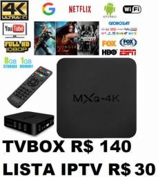 Tvbox + tv por internet