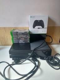 Xbox one com 9 jogos e controle novo