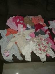 Lote de roupas para bebê menina de 0 a 4 meses