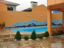 Residência em Itapoá ,5q.(4suítes), hidro, snooker, wifi,60m do mar, monitoramento 24h