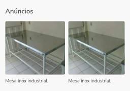 Mesas inox industriais.
