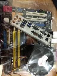 Kit placa mãe Core2Duo P5KPL-AM