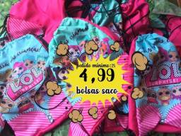Bolsas saco personalizadas