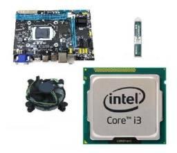 Kit i3 2100 + 4GB de ram + placa mãe