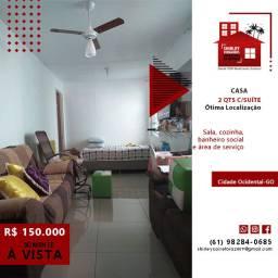 Casa 2 Quartos c/Suíte Centro da Cidade Ocidental