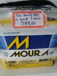 Bateria Moura 50 amperes base de troca Entrega grátis Curitiba