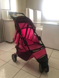 Carrinho para passeio Pet rosa