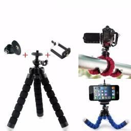 Mini Tripé Flexível Suporte Articulado P/ Câmera Ação