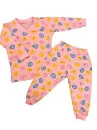 Pijama infantil longo algodão tamanho 1 a 8  anos