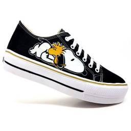 Tênis Plataforma Converse All Star Snoopy