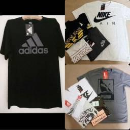 camisetas e bermudas
