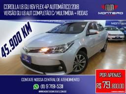 Toyota Corolla 1.8 GLI 16v Flex 4p Automático Completo C/ Multimídia Só 45.900 Km
