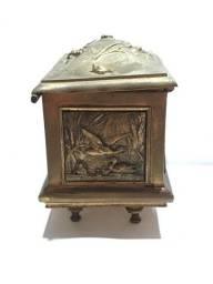 Porta joia antigo em Latão com Bronze