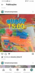 Arma de brinquedo e etc 20,00