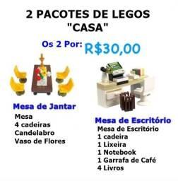 Lote 2 Lego Móveis p/ Casa (Mesa de sala e Mesa Escritório) R$ 30,00