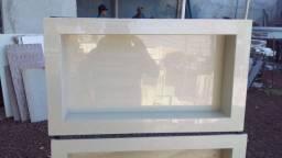 Nichos em porcelanato medindo 30x60 valor 170.00 reais