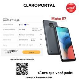 Título do anúncio: Celular moto E7 Motorola no plano de 30 GB