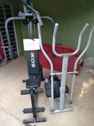 Título do anúncio: Vende se RS  a bicicleta 800   musculação 1100