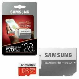 Cartão Micro SDXC 128GB SAMSUNG EVO PLUS NOVOS LACRADOS