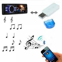 Título do anúncio: Adaptador Receptor USB para Bluetooth Pendrive Para Som de Carro Musica