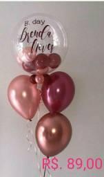 Balões de gás hélio