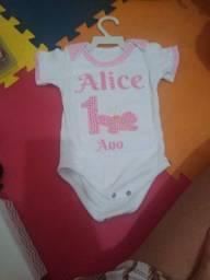 Body 1 ano Alice borboleta