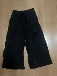 Calça Pantalona Preta Brilho