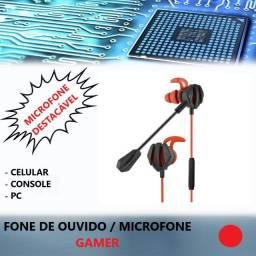 Fone De Ouvido Intra auricular Gamer Free Fire / Pubg /cod Ps4 Celular