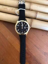 Relógio Technos Sport Dourado com Pulseira Silicone. ORIGINAL ZERO NA CAIXA