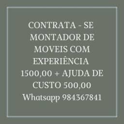 CONTRATA SE MONTADOR DE MÓVEIS