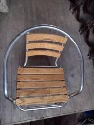 Título do anúncio: Cadeiras Alumínio e Madeira