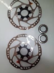 Título do anúncio: Par disco de freio deore Sm- RT 64 /160mm