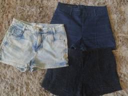 Título do anúncio: Vendo 3 shorts tamanho 38