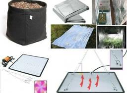 Título do anúncio: Kit Grow Indoor Led 500w + Película Mylar + Vaso Feltro 20l
