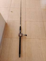 Carretilha Perfil Alto BlackMax30 Mariner e vara pesca pesada