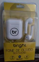 Fone sem fio Bright FN561 na caixa, lacrado, sem uso